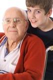 Grande - abuelo y vertical del nieto junto Fotos de archivo