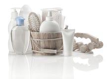 Grande accumulazione degli articoli da bagno Fotografia Stock