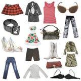 Grande accumulazione del vestito dalle femmine Fotografia Stock Libera da Diritti