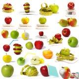 Grande accumulazione delle mele isolate Immagini Stock