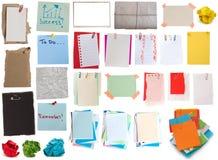 Grande accumulazione delle note Fotografie Stock Libere da Diritti