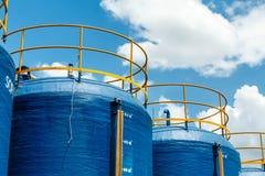 Grande acqua del filtrante di plastica del secchio usata per produrre alimento Fotografia Stock Libera da Diritti