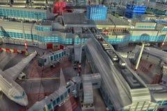 Grande aeroporto da disposição feito de Lego Fotografia de Stock