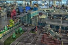 Grande aeroporto della disposizione fatto di Lego Fotografia Stock Libera da Diritti