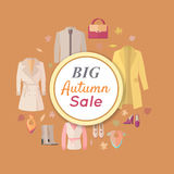 Grande affiche d'Autumn Fall Outerwear Sale Banner Photo libre de droits