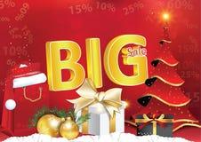 Grande affiche de ventes d'hiver pour la copie Images stock