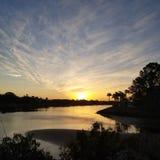 Grande alba del cielo Immagini Stock