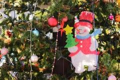 Grande albero di Natale Fotografie Stock Libere da Diritti