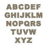Grande alfabeto do seixo Fotos de Stock Royalty Free