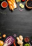 Grande alimento biologico dell'insieme Verdure grezze fresche Immagini Stock