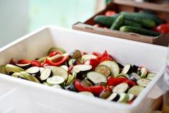 Grande alimento biologico dell'insieme Verdure grezze fresche Immagine Stock Libera da Diritti