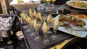 Grande alimento em uma refeição matinal do hotel em Dubai foto de stock royalty free