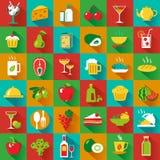 Grande alimento quadrato Fotografie Stock