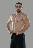 Grande allenamento Ritratto del culturista professionale muscolare e Fotografie Stock Libere da Diritti