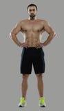 Grande allenamento Ritratto del culturista professionale muscolare e Immagine Stock Libera da Diritti