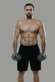 Grande allenamento Ritratto del culturista professionale muscolare e Immagini Stock Libere da Diritti