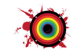 Grande altoparlante del Rainbow Immagine Stock Libera da Diritti