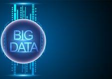 Grande analisi dei dati concetto di dati e rete co di tecnologia dell'informazione illustrazione vettoriale