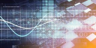 Grande analisi dei dati di dati illustrazione di stock