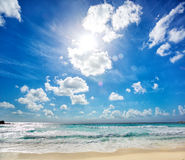 Grande Anse beach in La Digue Stock Images