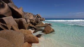 Grande Anse, isola di Digue della La, Seychelles Immagine Stock Libera da Diritti
