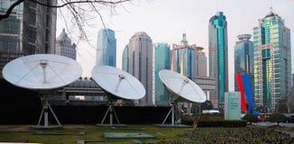 Grande antenne pour une grande ville Photographie stock