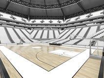 Grande arène moderne de basket-ball avec les sièges blancs Images stock