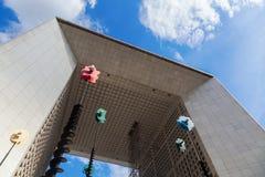 Grande Arche στην υπεράσπιση Λα, Παρίσι, Γαλλία Στοκ Φωτογραφίες