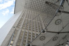 GRANDE ARCHE DE LA DÉFENSE. GRANDE ARCHE DE LA DÉFENSE against the sky Stock Photography