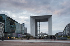The 'Grande Arche de la Défense'. Taken in the financial district of Paris, France Royalty Free Stock Photo