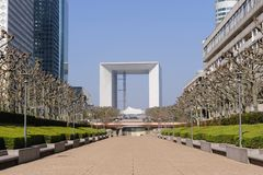 Grande Arche de La Defens Royalty Free Stock Photography