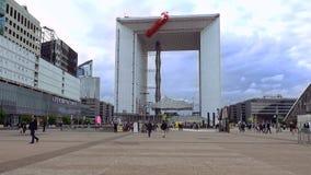 Grande Arche de La Defense en París, Francia imagenes de archivo