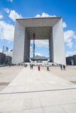 Grande Arche de la Defense in Paris, France Stock Photos