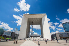 Grande Arche de la Defense in Paris, France Royalty Free Stock Photography