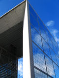 Grande Arche de la Fraterni in La defense of Paris Royalty Free Stock Photography