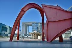 Grande Arche i området för Laförsvaraffär Royaltyfri Foto