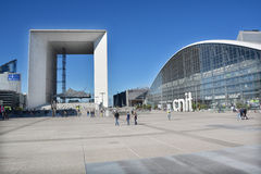 The Grande Arche in the La Defence business district Stock Images