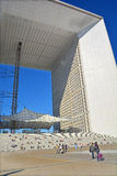 The Grande Arche in the La Defence Royalty Free Stock Photos