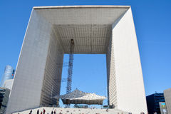 The Grande Arche in the La Defence Royalty Free Stock Photography