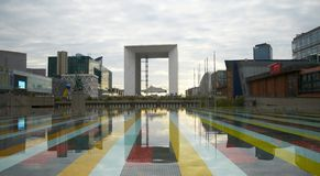 Grande Arche, La Defense. View of the Grande Arche of la Defense, Paris, France Stock Image
