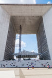 Grande Arche in La Defense, Paris, France Royalty Free Stock Image