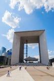 Grande Arche in La Defense, Paris, France Stock Photos