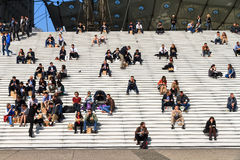 Grande Arche stairs Royalty Free Stock Images