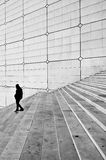 Grande arche stairs, Paris. France. Royalty Free Stock Photo