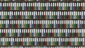 Grande archivio in pieno del colpo orizzontale colorato del carrello dei raccoglitori metraggio capace del ciclo senza cuciture 4 stock footage