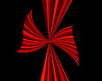 Grande arco rosso sul nero Fotografia Stock Libera da Diritti