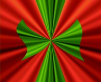 Grande arco verde su colore rosso Fotografia Stock