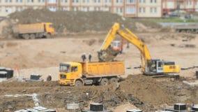Grande area della costruzione di estate stock footage