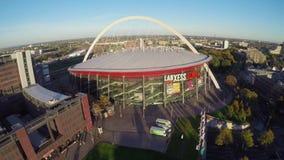 Grande arena di concerto in Colonia, Lanxess, colpo aereo, hockey su ghiaccio video d archivio