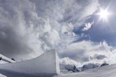 Grande aria, sosta della neve per lo snowboard Fotografia Stock
